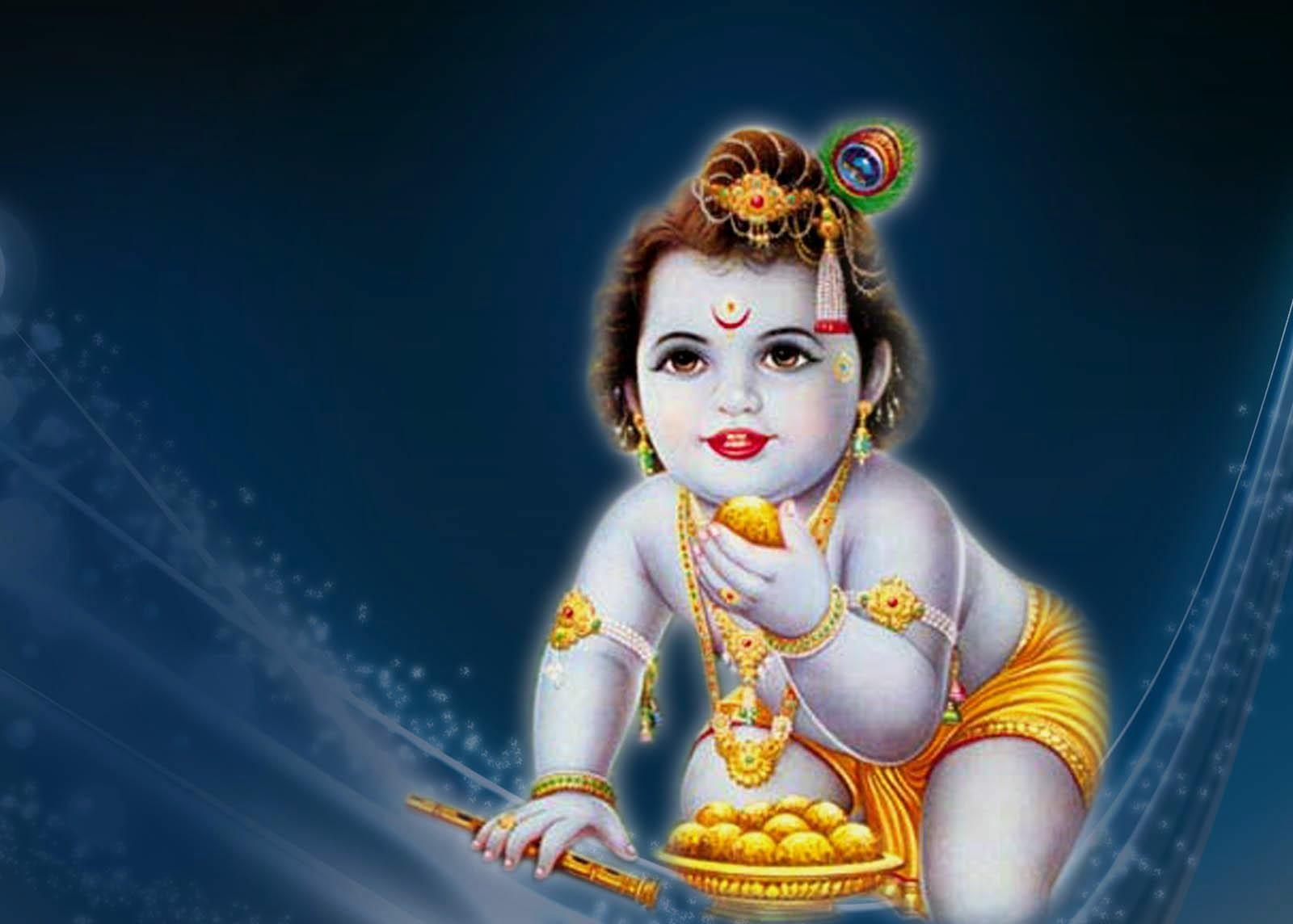 Cute Lord Bal Krishna HD Wallpaper 1080p free