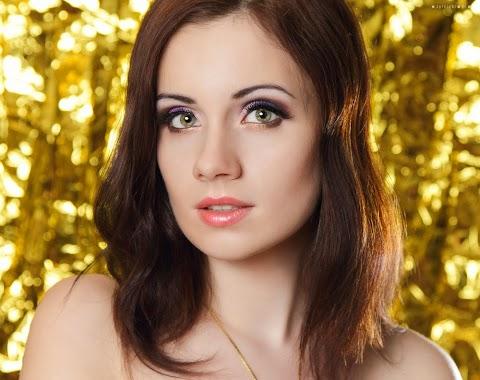 Fioletowo złoty makijaż KOBO
