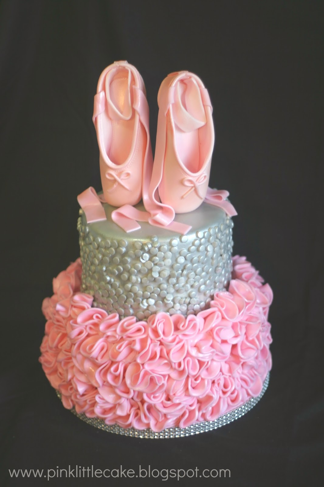 Cake Design Ballet : Pink Little Cake: Pink and Ruffles Ballerina Cake