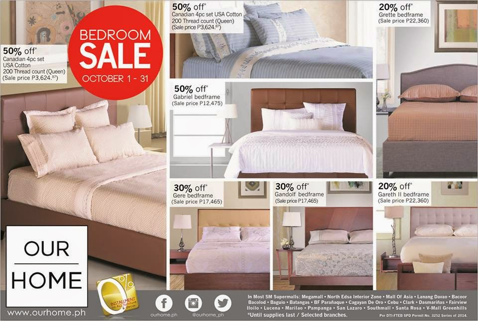Manila Shopper Our Home Bedroom Sale Oct 2014