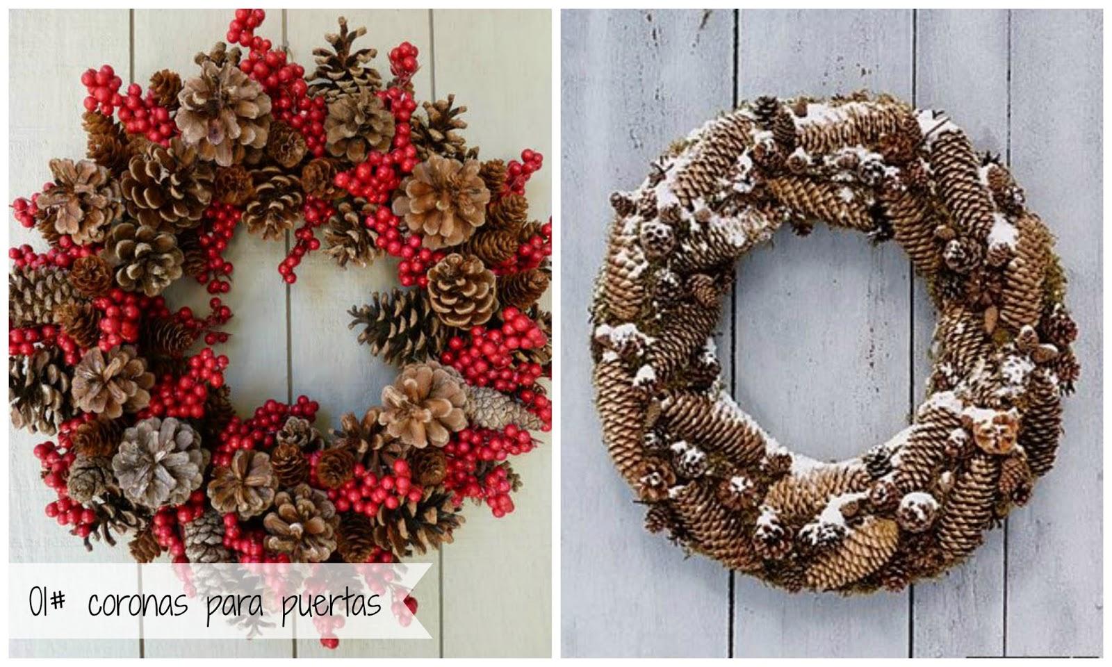 Buscando inspiracion 5 ideas para decorar con pi as esta - Adornos de navidad con pinas ...