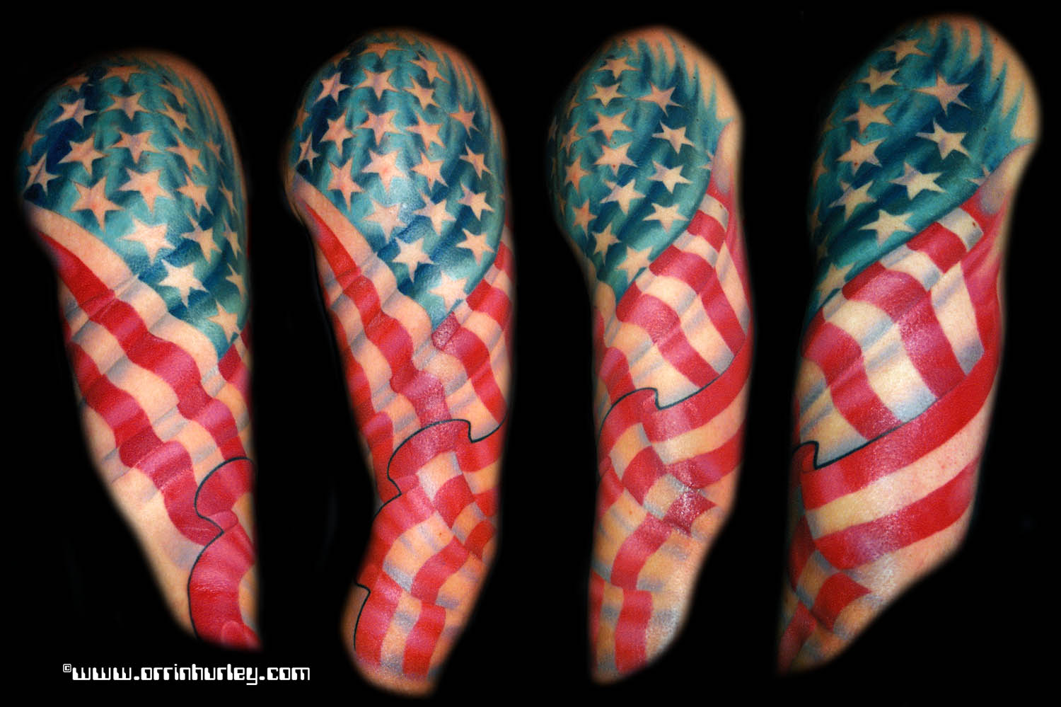 American Flag Tattoo Sleevejpg