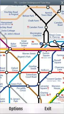 TFL Tube Map Screenshot