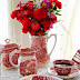 Red Transferware Valentine's Tea