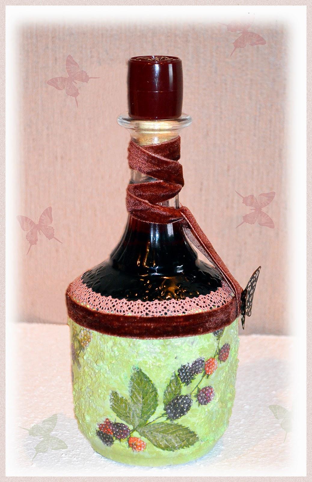 декорирование бутылочки в подарок