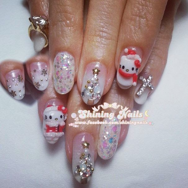 shiningnails-christmas-hellokitty-nailart
