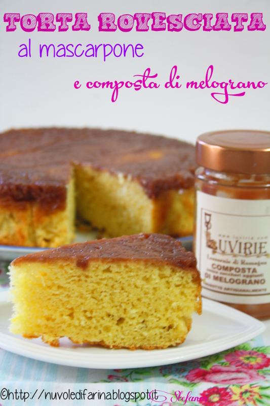 torta rovesciata mscarpone e marmellata