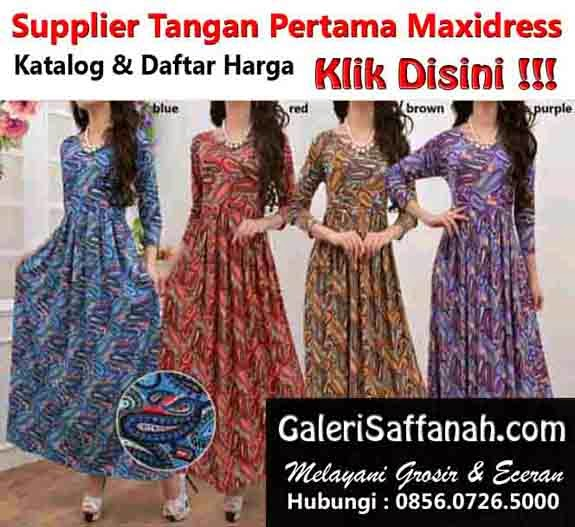 Supplier Maxi Dress Tangan Pertama