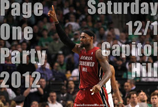 lebron james, of team dania screwedme, saluting 2012's page 1 party