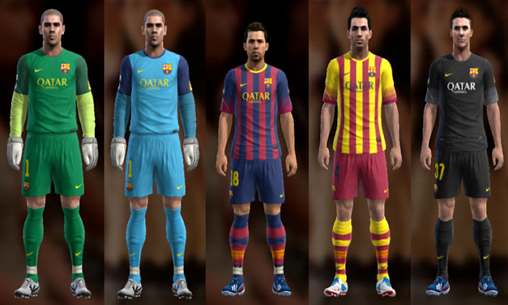 PES 2013 Barcelona 13 14 Kit Set by Ramz