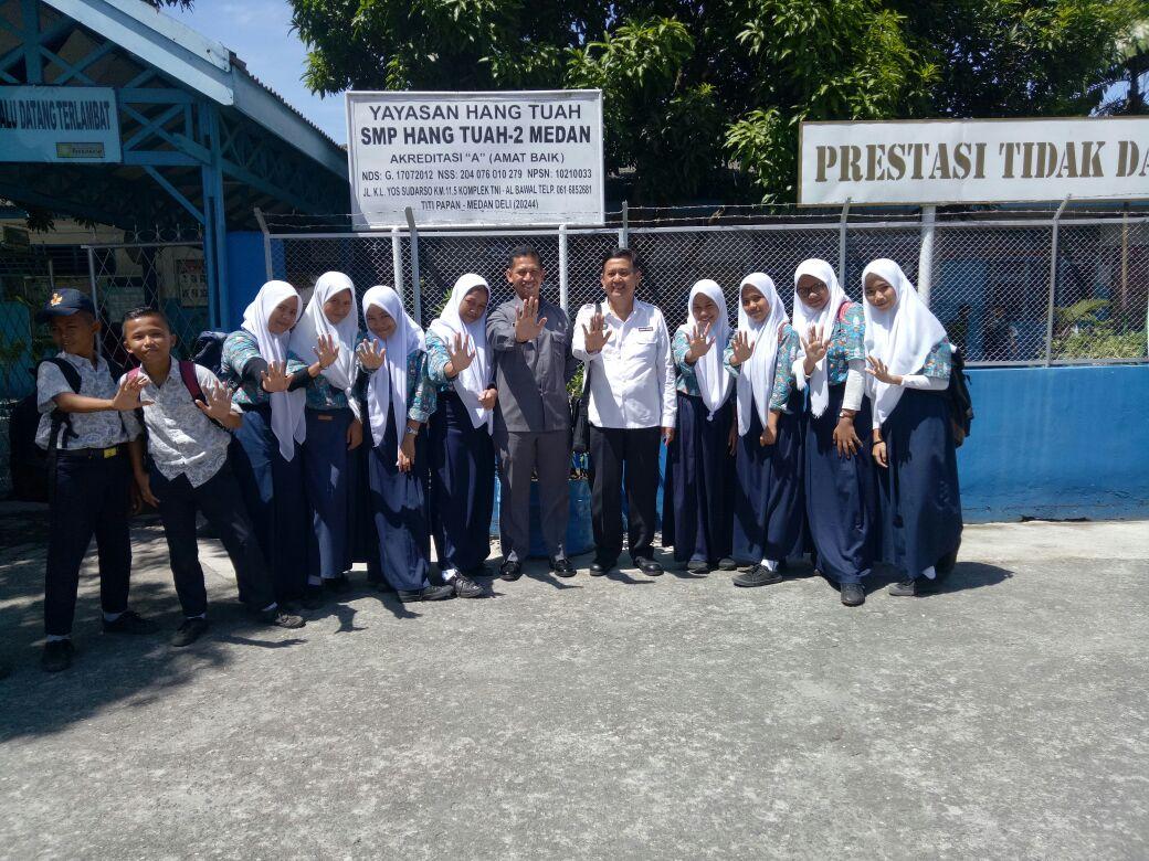 Darurat Narkoba, BNN Provsu Beri Penyuluhan di SD, SMP Hang Tuah 2 Medan