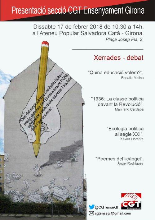 Presentació de la secció sindical CGT Ensenyament Girona