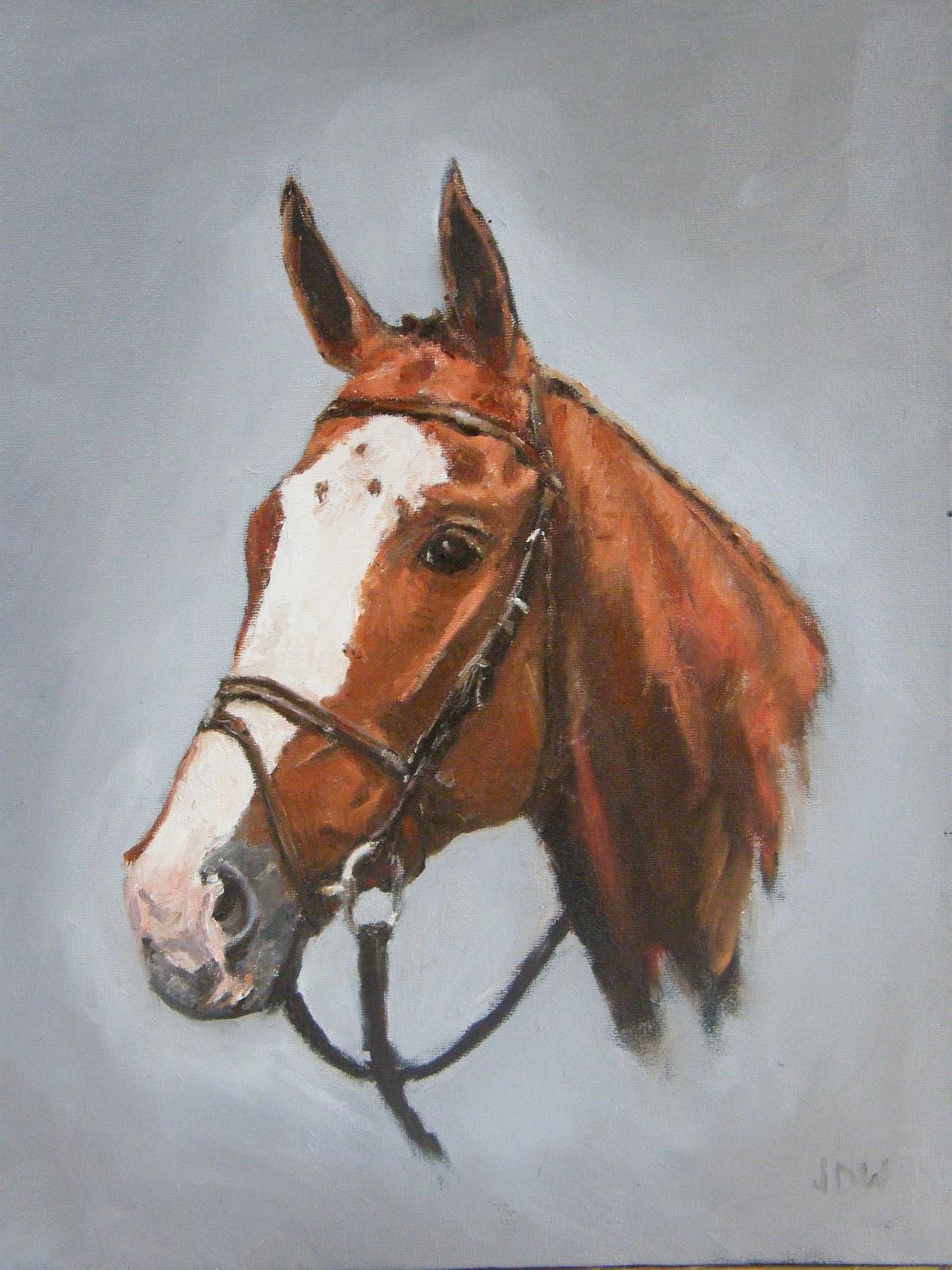 Horse Head Oil Paintings - 309.1KB