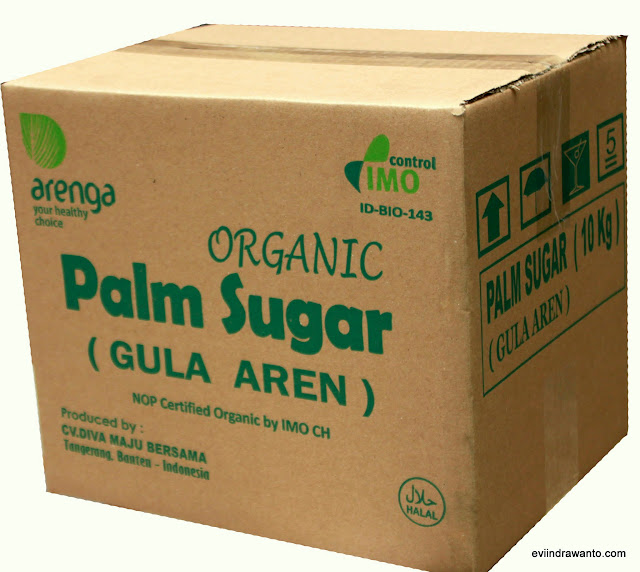 arenga palm suga's in bulk packing