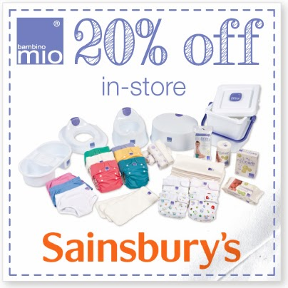 20% off bambino mio cloth nappies at sainsburys