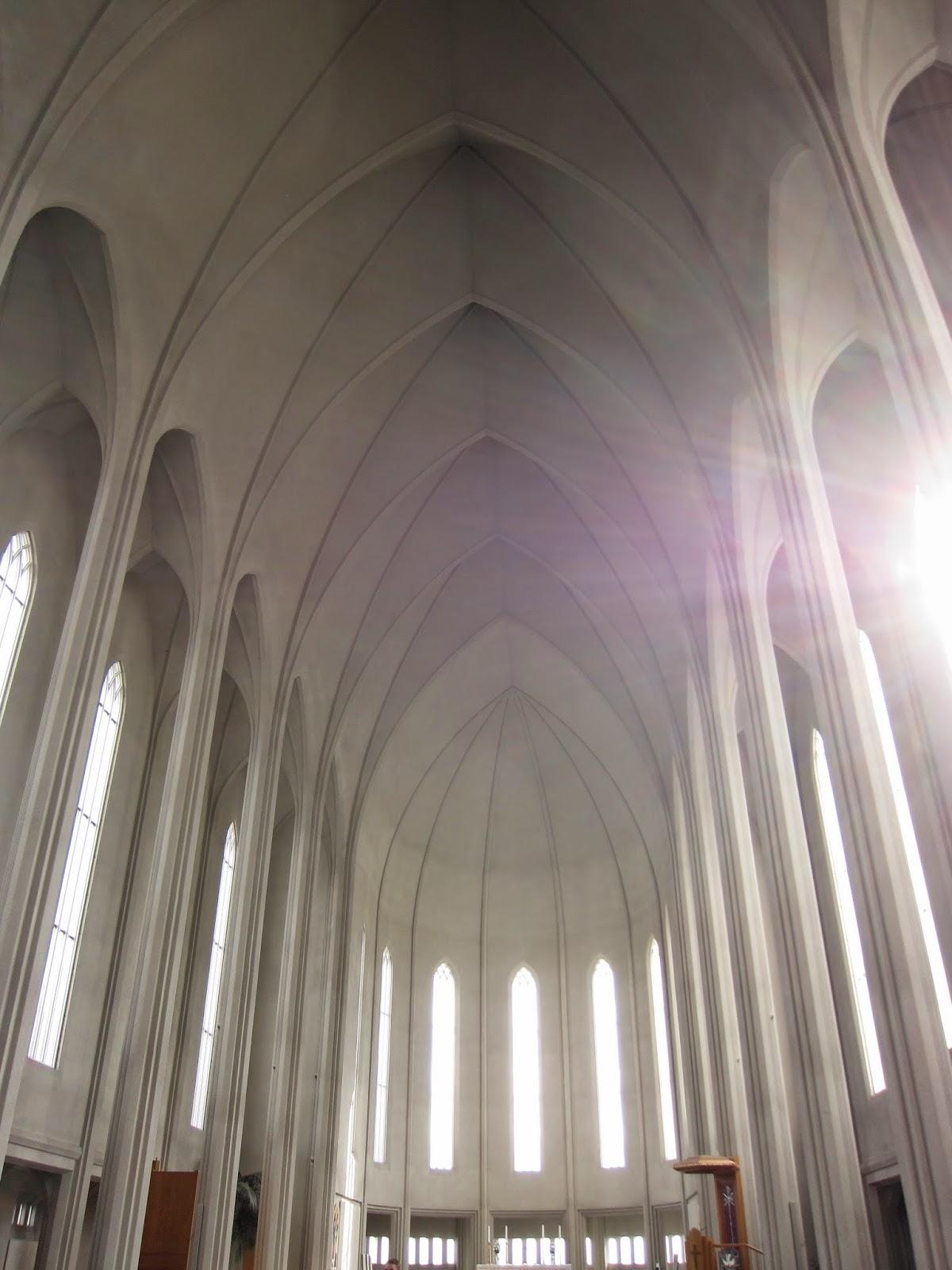 Inside the Hallgrímskirkja