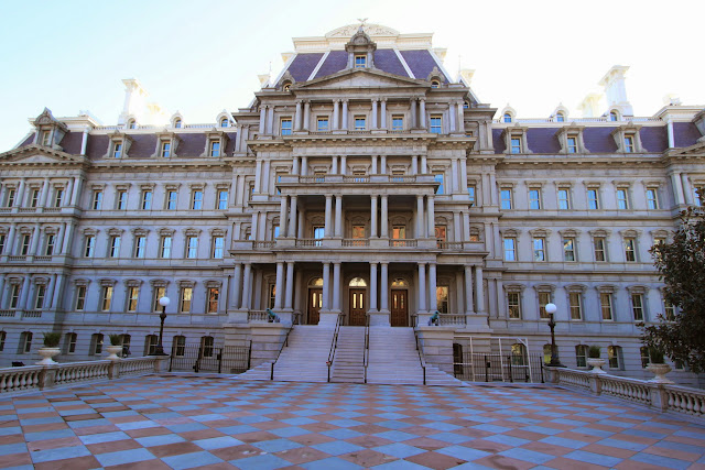 Executive Office Building was originally known as State, War and Navy Departments in Washington DC, USA