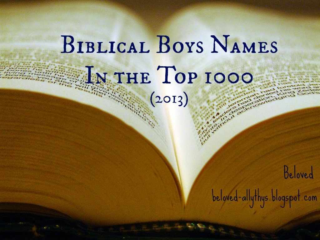 Beloved baby names biblical baby boy names in the top 1000 2013 biblical baby boy names in the top 1000 2013 edition negle Images