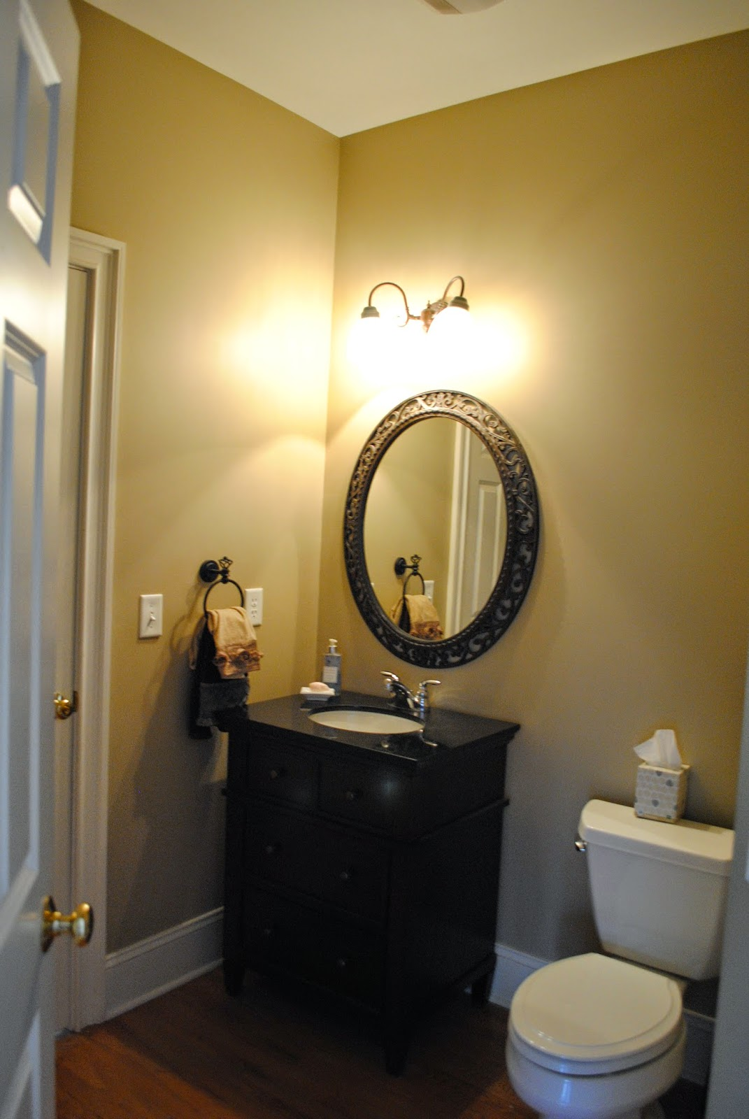 House by Holly: A Bold & Dramatic Powder Room | A Stencil Project