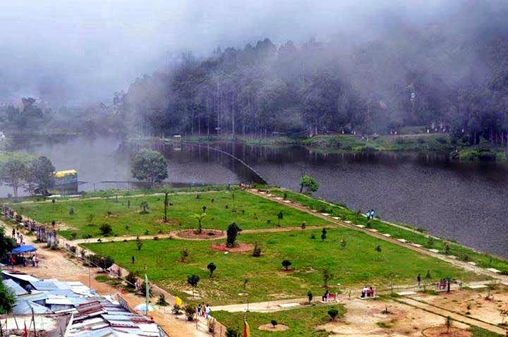 Gardening around mirik lake by local new looks of mirik lake