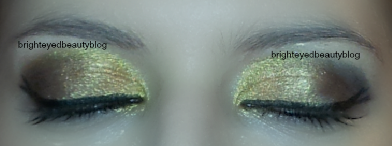Vice Palette Series: Gold and Grey Graphic eyeliner look both eyes closed