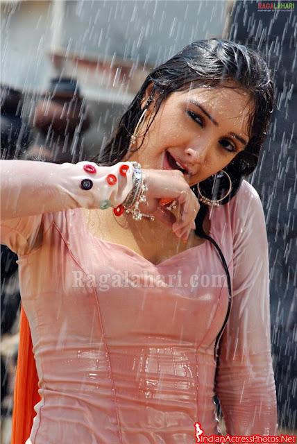 Actress Sridevi Vijayakumar hot and sexy in wet showing navel