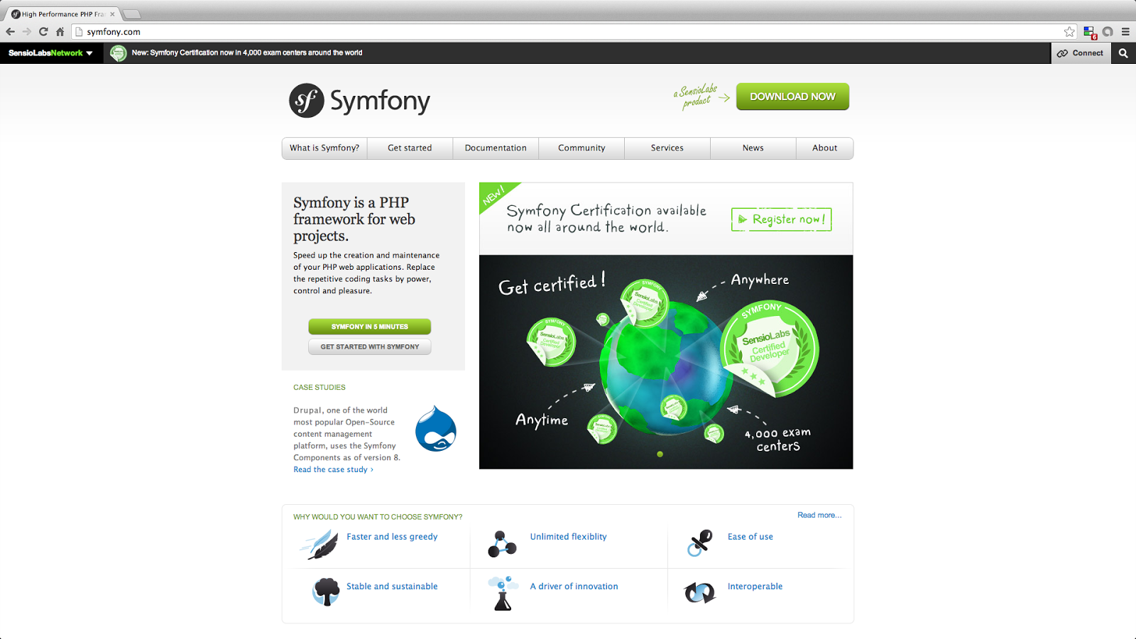 Symfony - top 5 most popular php framework