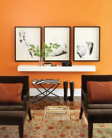 Design dump divide and conquer - Orange living room walls ...
