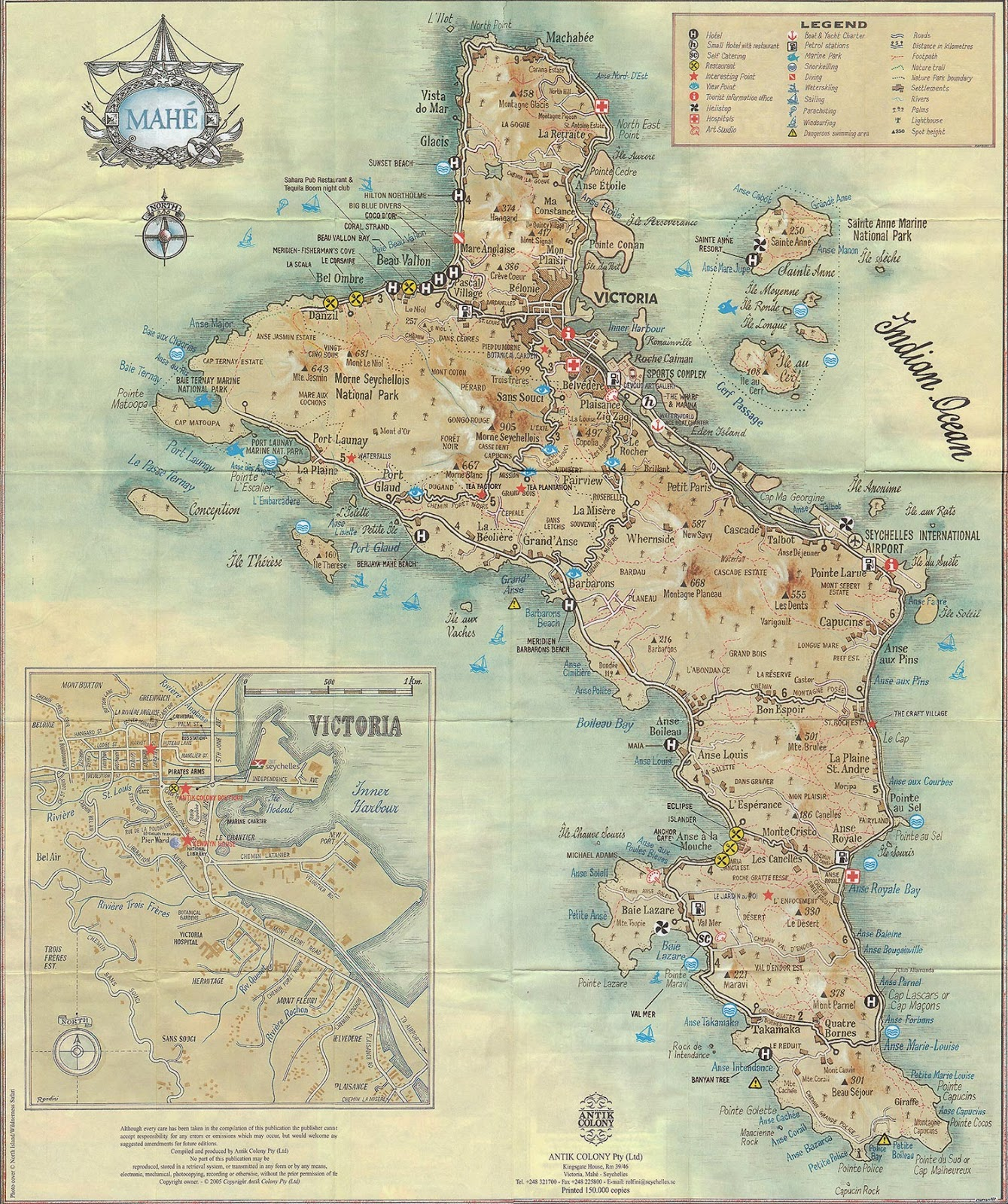 Our Travel Affairs Of Destinations Less Travelled Seychelles Maps - Seychelles map