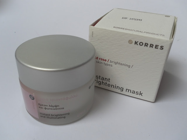 A picture of Korres Wild Rose Instant Brightening Mask