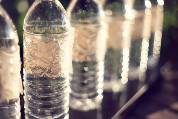 Do It Yourself Weddings Lacey Water Bottles SIMPLE DIY Project