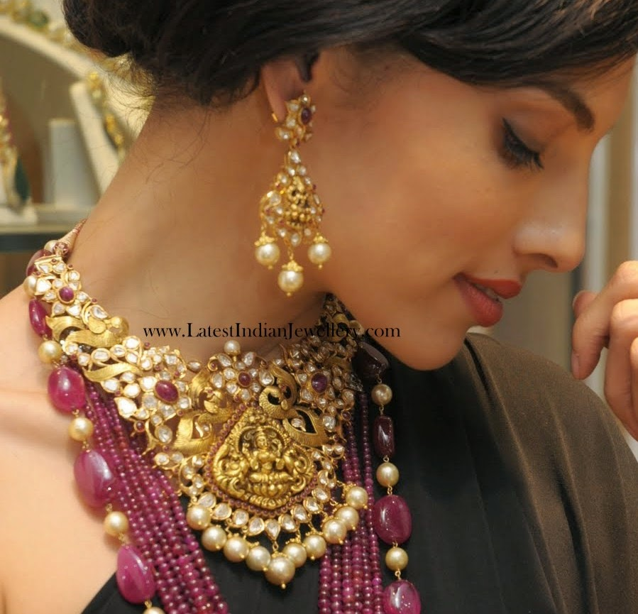 Hand Crafted Polki Diamond Necklace