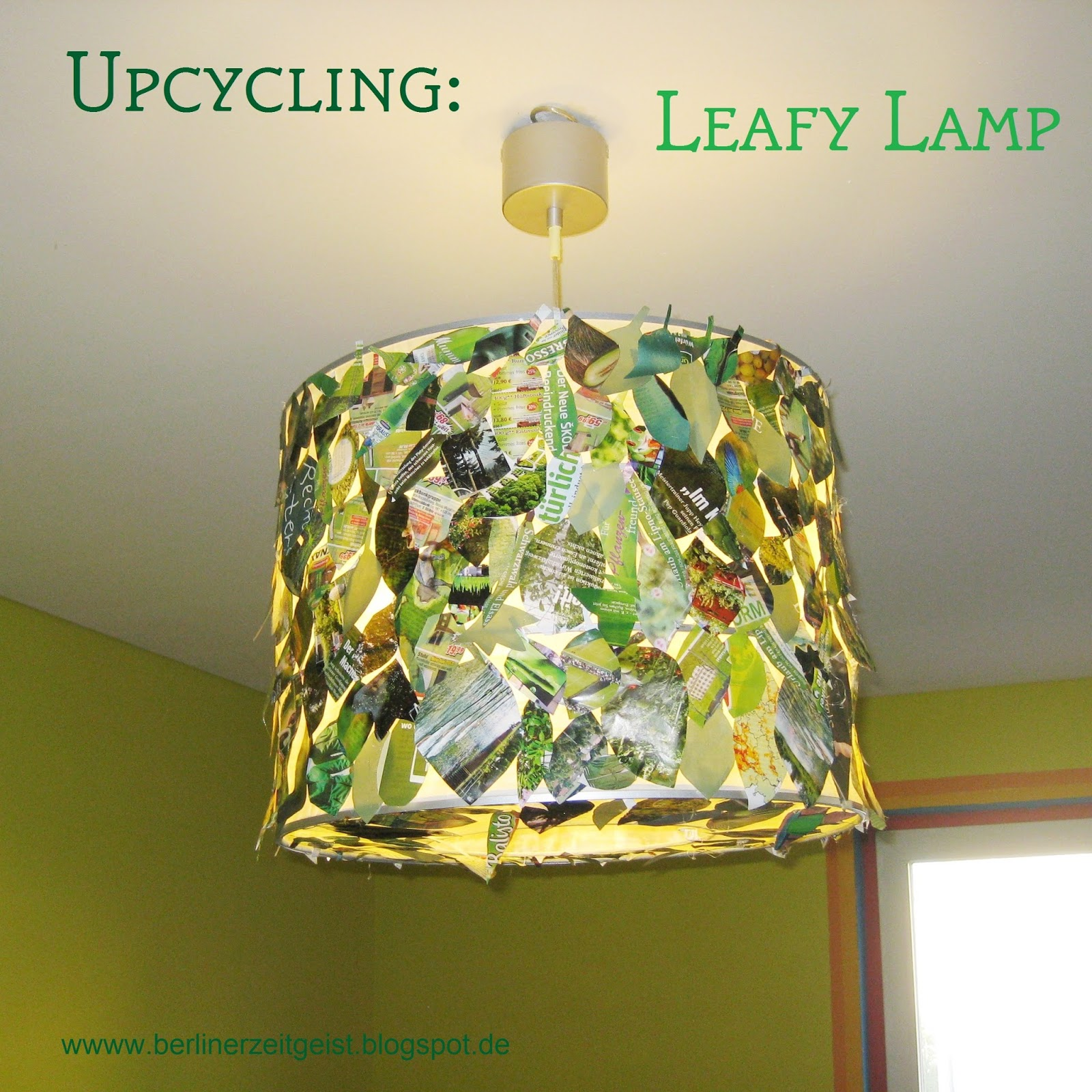Berliner zeitgeist: upcycling: leafy lamp