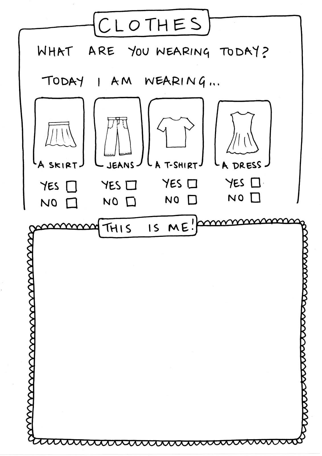 worksheet This Is Me Worksheet worksheet clothes workshop resources clothes