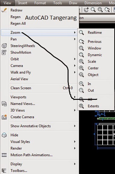 Cara Zoom AutoCAD Metode All.
