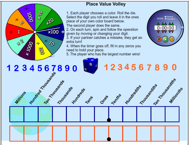 Place Value Volley