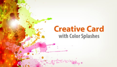 How to Create a Creative Card with Splash of Color and Light Effects in Illustrator