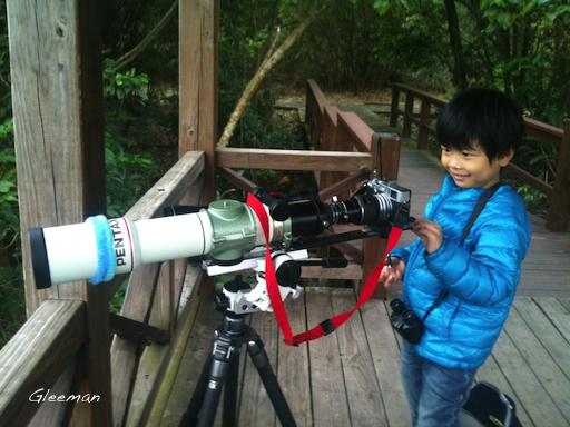 東方白鸛於關渡自然公園西南賞鳥廣場。Digiscoping Pentax 75SDHF