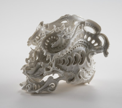 Ornate Porcelain Skulls by Katsuyo Aoki Seen On www.coolpicturegallery.us
