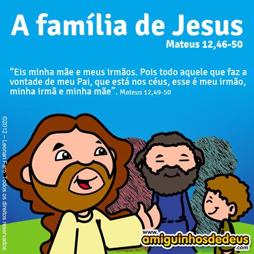 A família de Jesus - Mateus 12,46-50 desenho