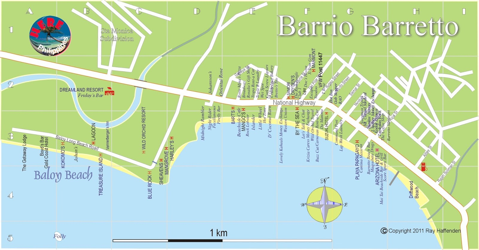 you would be surprised by the attractions of barrio baretto and baloy beach it has become home to many former us servicemen who owns restaurants and other