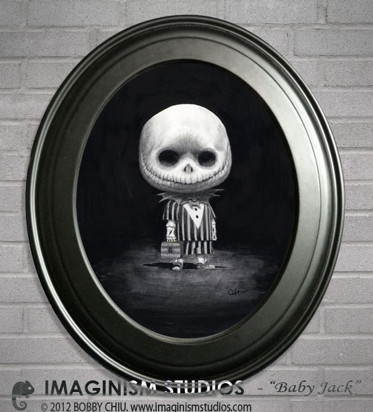 ... Baby Jack - Painting for Nightmare Before Christmas at Arludik Gallery