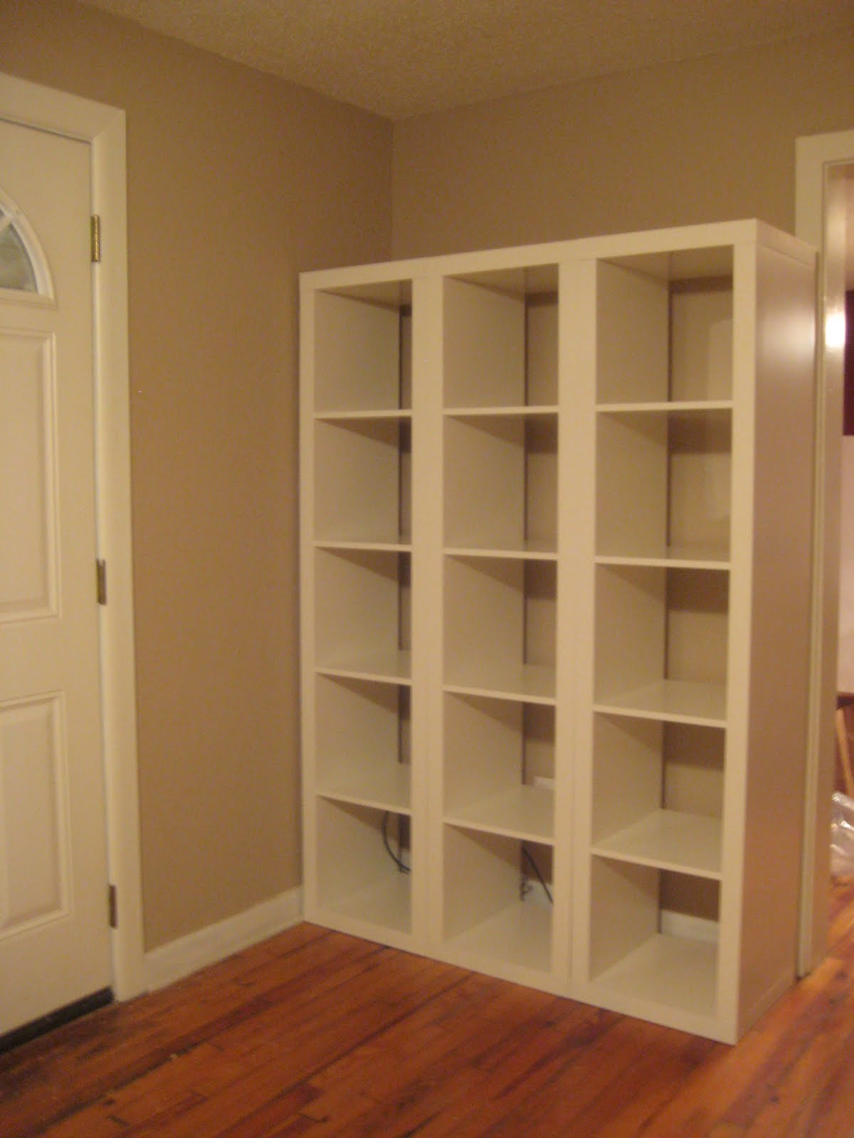 Ikea Expedit Oak Discontinued ~   front door, we opted to purchase 3 individual Expedit Shelving Units