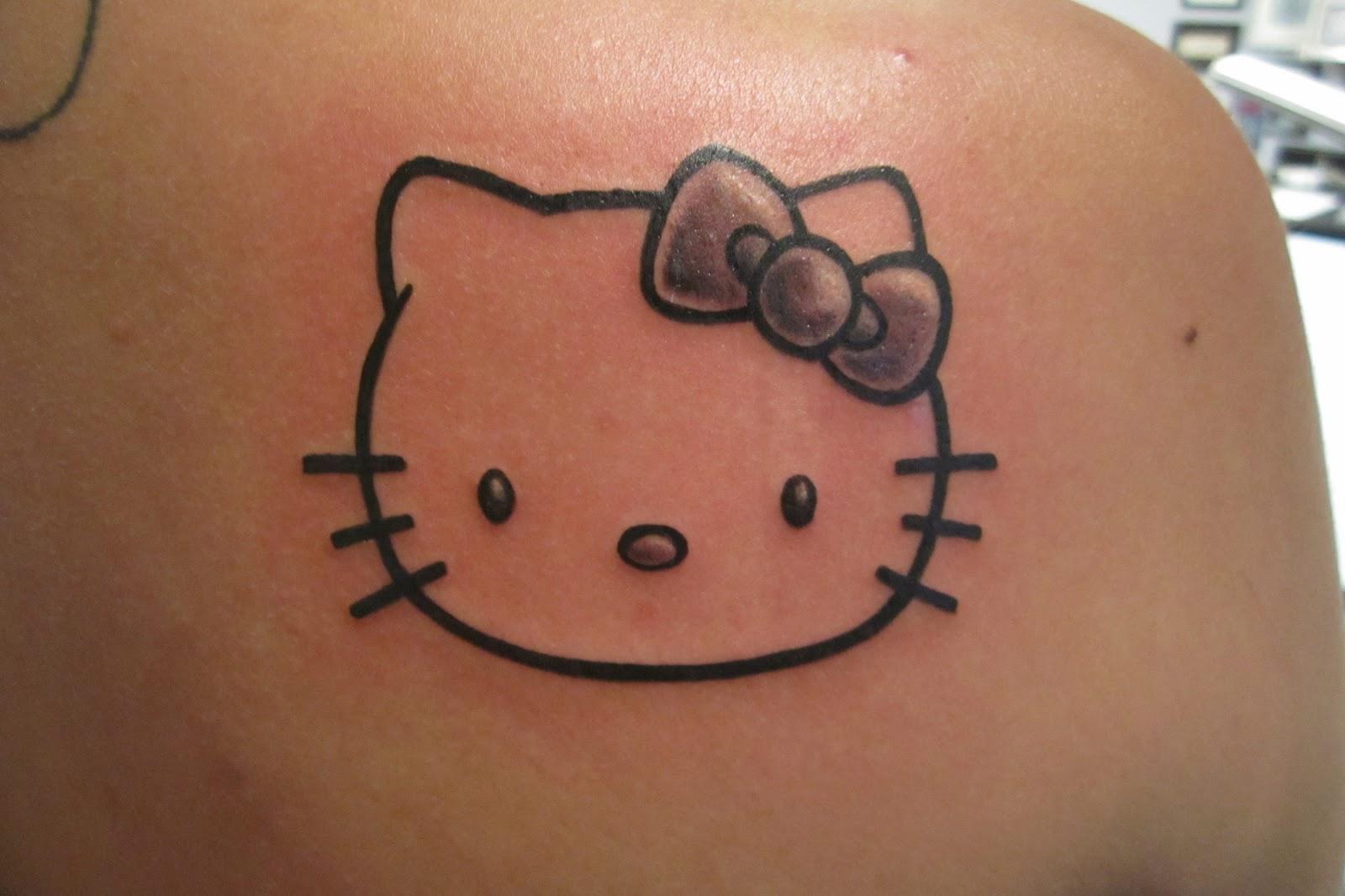 Hello kitty татуировки фото