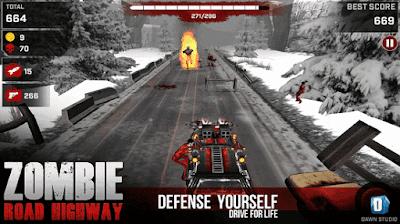 zombie road highway apk mod