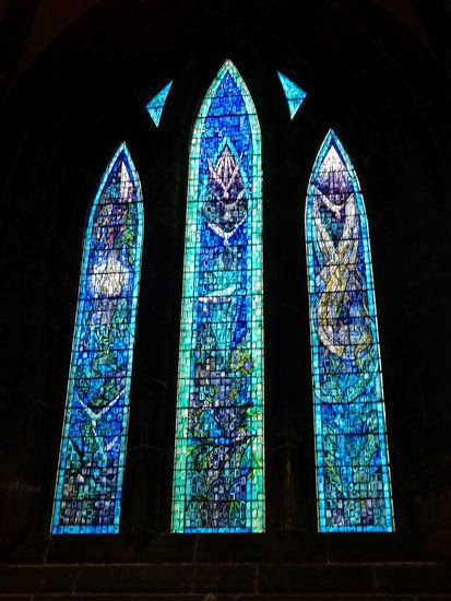 Stained glass, Glasgow School of Art, windows in Glasgow Cathedral, Scotland