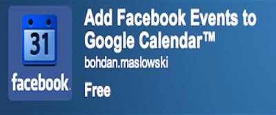 facebook Google Calendar