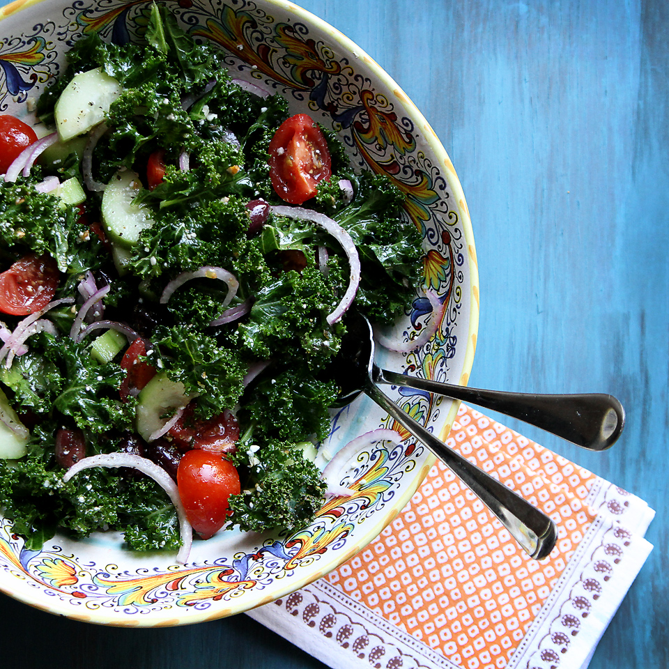 baby kale greek salad kale greek salad ingredients was sort of greek ...