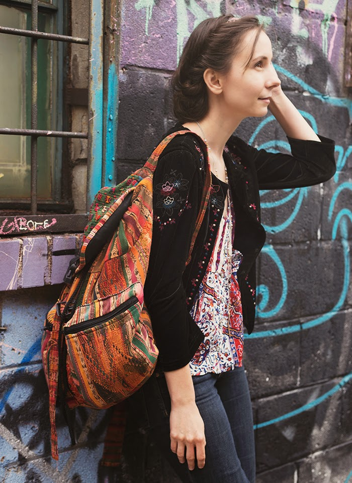 Embroidered-Velvet-Jacket-peplum-tank-Tribal-Boho