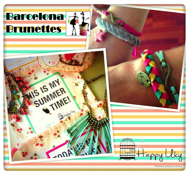 Happy Uky pulseras colores handmade barcelona brunettes